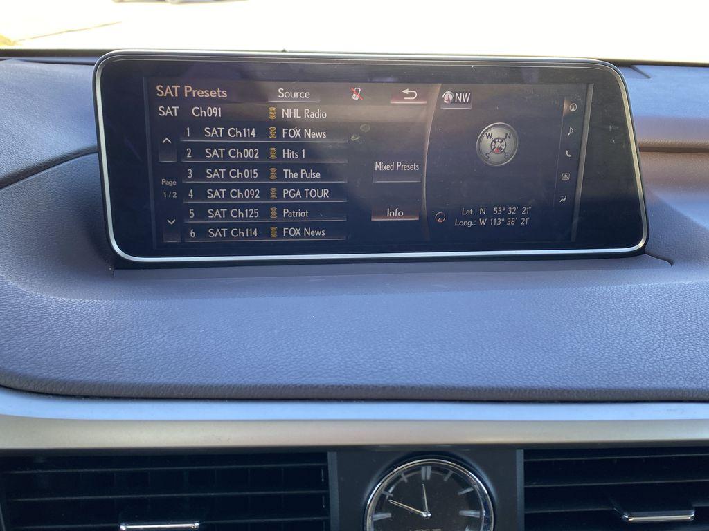 White[Eminent White Pearl] 2017 Lexus RX 350 Radio Controls Closeup Photo in Edmonton AB