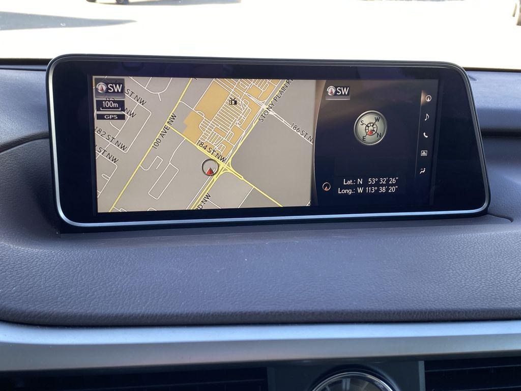White[Eminent White Pearl] 2017 Lexus RX 350 Navigation Screen Closeup Photo in Edmonton AB