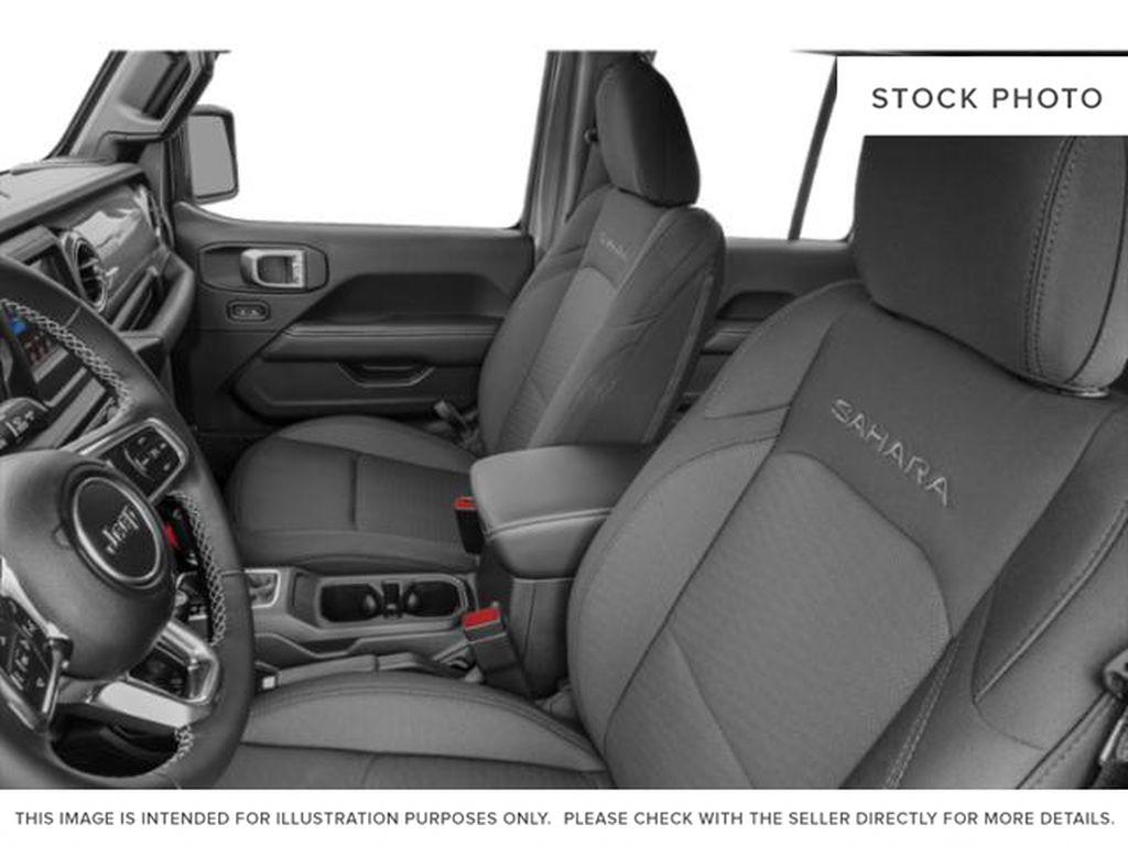 Black[Black] 2021 Jeep Wrangler Left Front Interior Photo in Fort Macleod AB