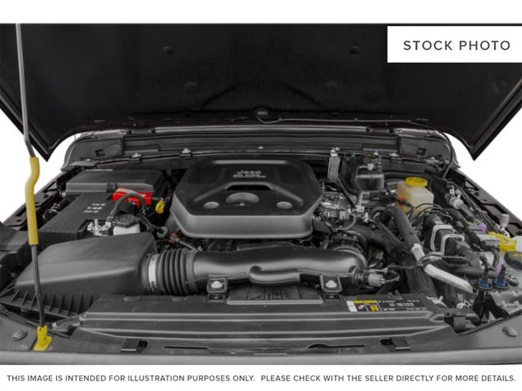 Black[Black] 2021 Jeep Wrangler Engine Compartment Photo in Fort Macleod AB