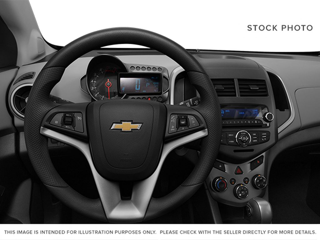 2014 Chevrolet Sonic Steering Wheel and Dash Photo in Medicine Hat AB