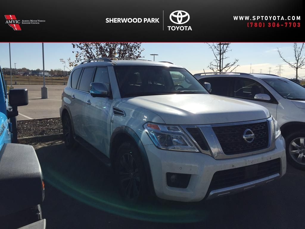 White[Pearl White] 2017 Nissan Armada PLATINUM