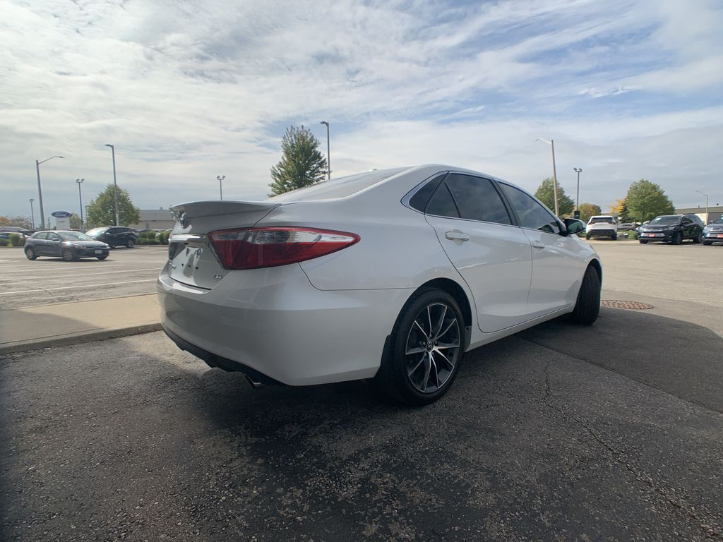 White[Blizzard Pearl] 2017 Toyota Camry clean Left Front Interior Photo in Brampton ON