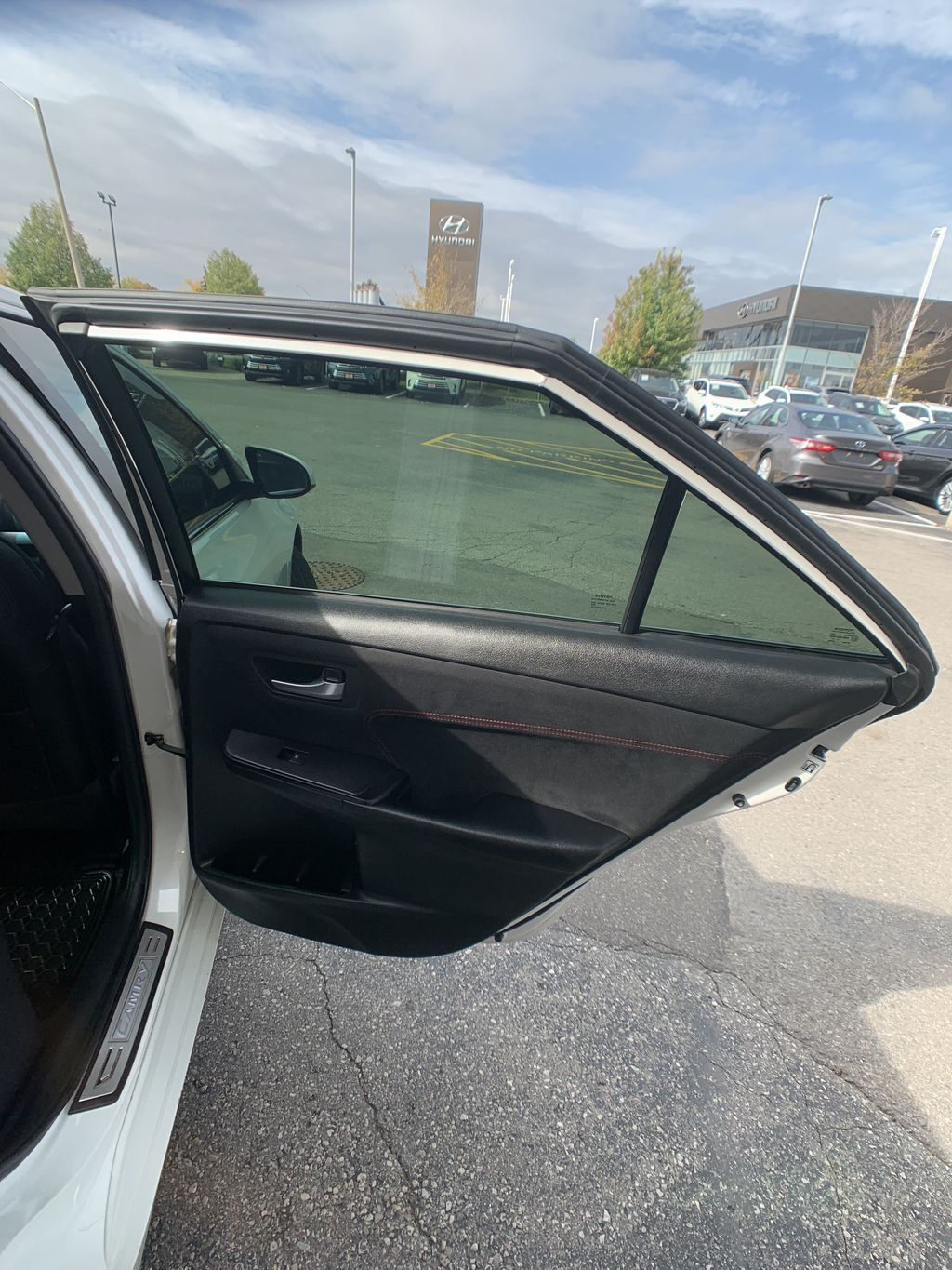 White[Blizzard Pearl] 2017 Toyota Camry clean Left Side Rear Seat  Photo in Brampton ON