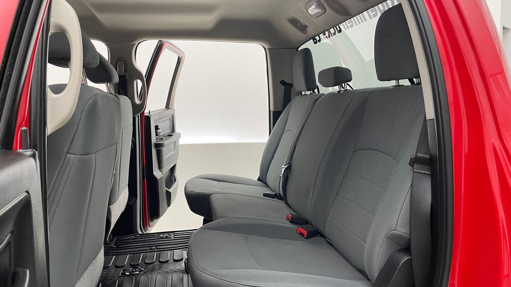 Red[Bright Red] 2018 Ram 1500 Express 4WD - Crew Cab, HEMI, RC Suspension Lift Left Side Rear Seat  Photo in Winnipeg MB