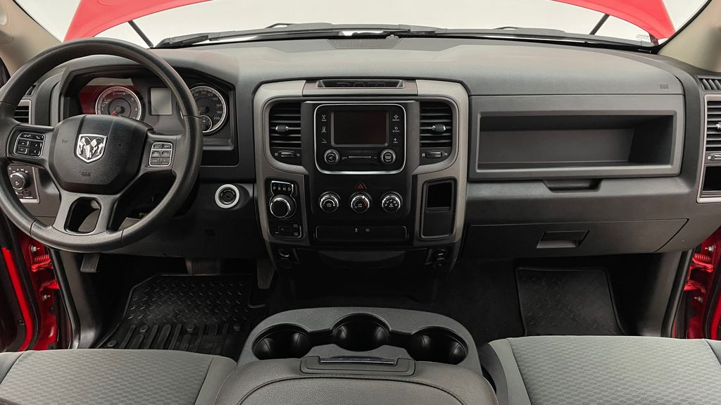 Red[Bright Red] 2018 Ram 1500 Express 4WD - Crew Cab, HEMI, RC Suspension Lift Central Dash Options Photo in Winnipeg MB
