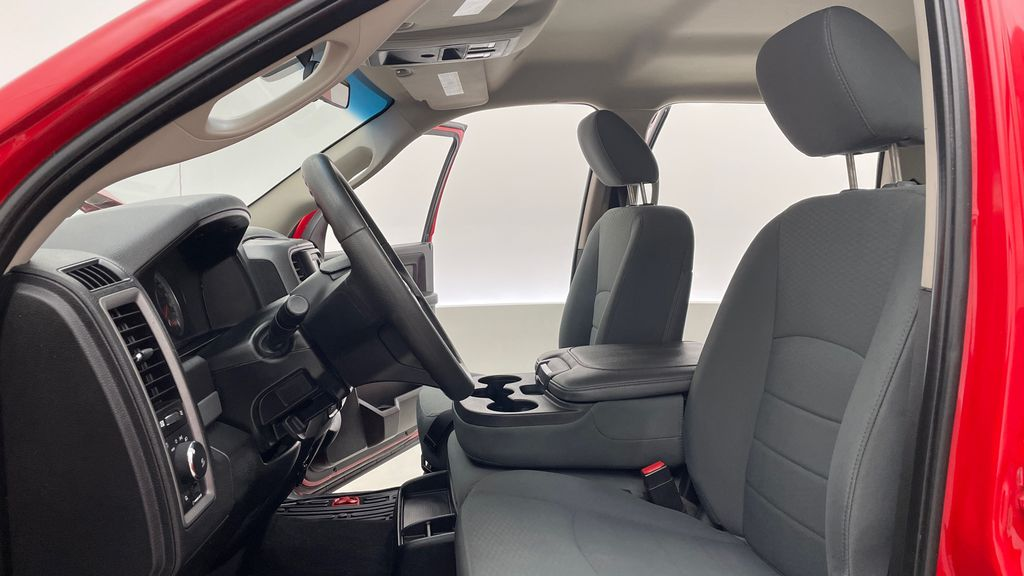 Red[Bright Red] 2018 Ram 1500 Express 4WD - Crew Cab, HEMI, RC Suspension Lift Left Front Interior Photo in Winnipeg MB