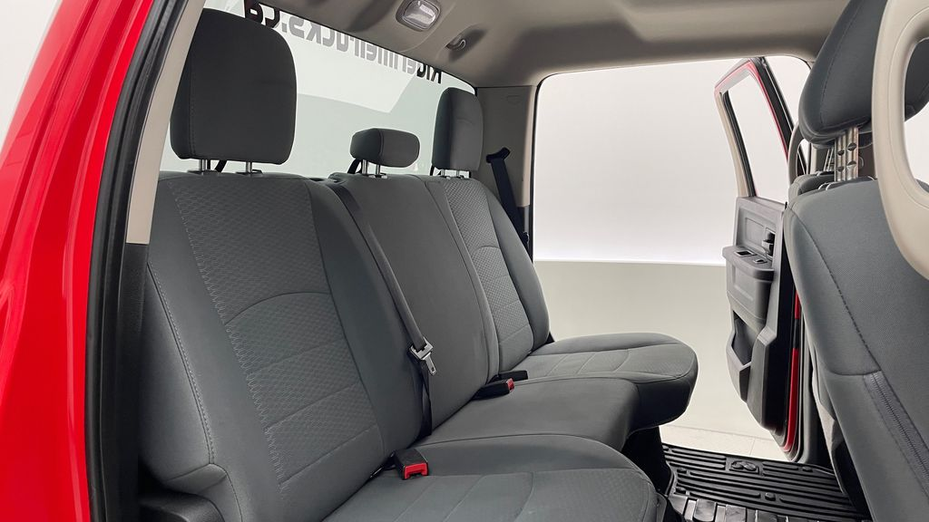 Red[Bright Red] 2018 Ram 1500 Express 4WD - Crew Cab, HEMI, RC Suspension Lift Right Side Rear Seat  Photo in Winnipeg MB