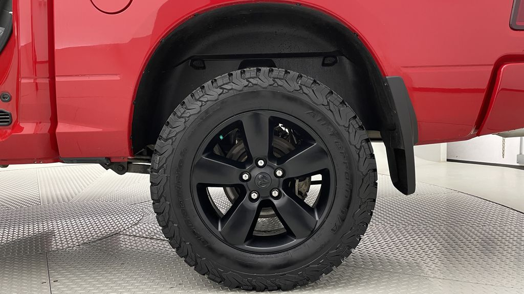 Red[Bright Red] 2018 Ram 1500 Express 4WD - Crew Cab, HEMI, RC Suspension Lift Left Rear Rim and Tire Photo in Winnipeg MB