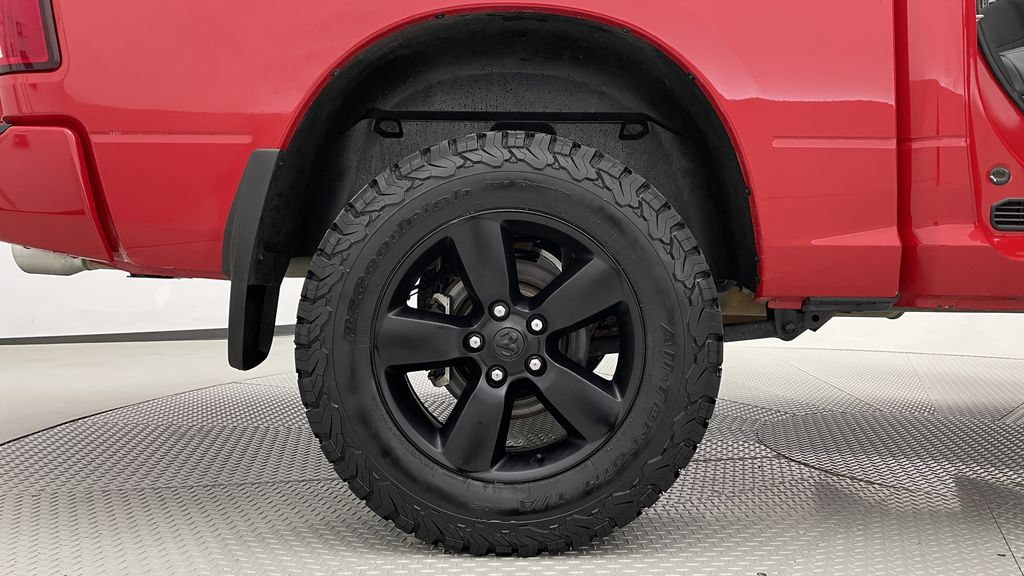 Red[Bright Red] 2018 Ram 1500 Express 4WD - Crew Cab, HEMI, RC Suspension Lift Right Rear Rim and Tire Photo in Winnipeg MB