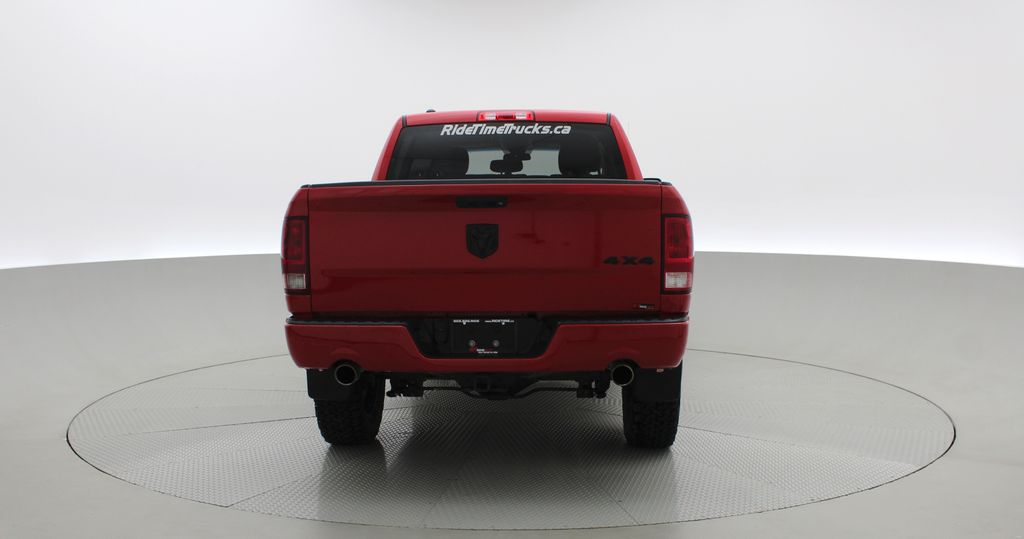 Red[Bright Red] 2018 Ram 1500 Express 4WD - Crew Cab, HEMI, RC Suspension Lift Rear of Vehicle Photo in Winnipeg MB