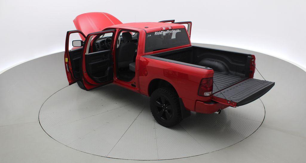 Red[Bright Red] 2018 Ram 1500 Express 4WD - Crew Cab, HEMI, RC Suspension Lift Right  Rear Corner Photo in Winnipeg MB