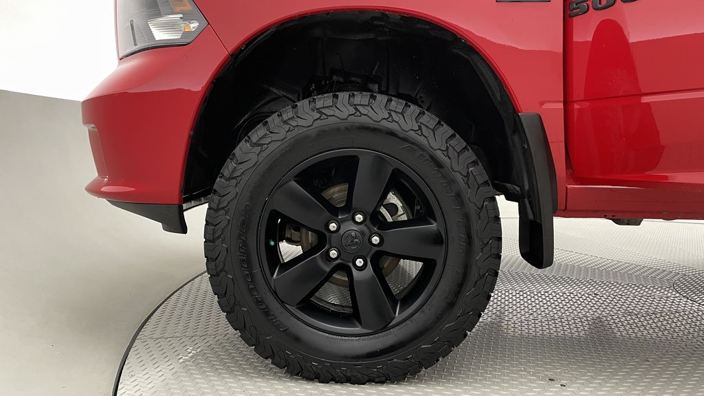 Red[Bright Red] 2018 Ram 1500 Express 4WD - Crew Cab, HEMI, RC Suspension Lift Left Front Rim and Tire Photo in Winnipeg MB