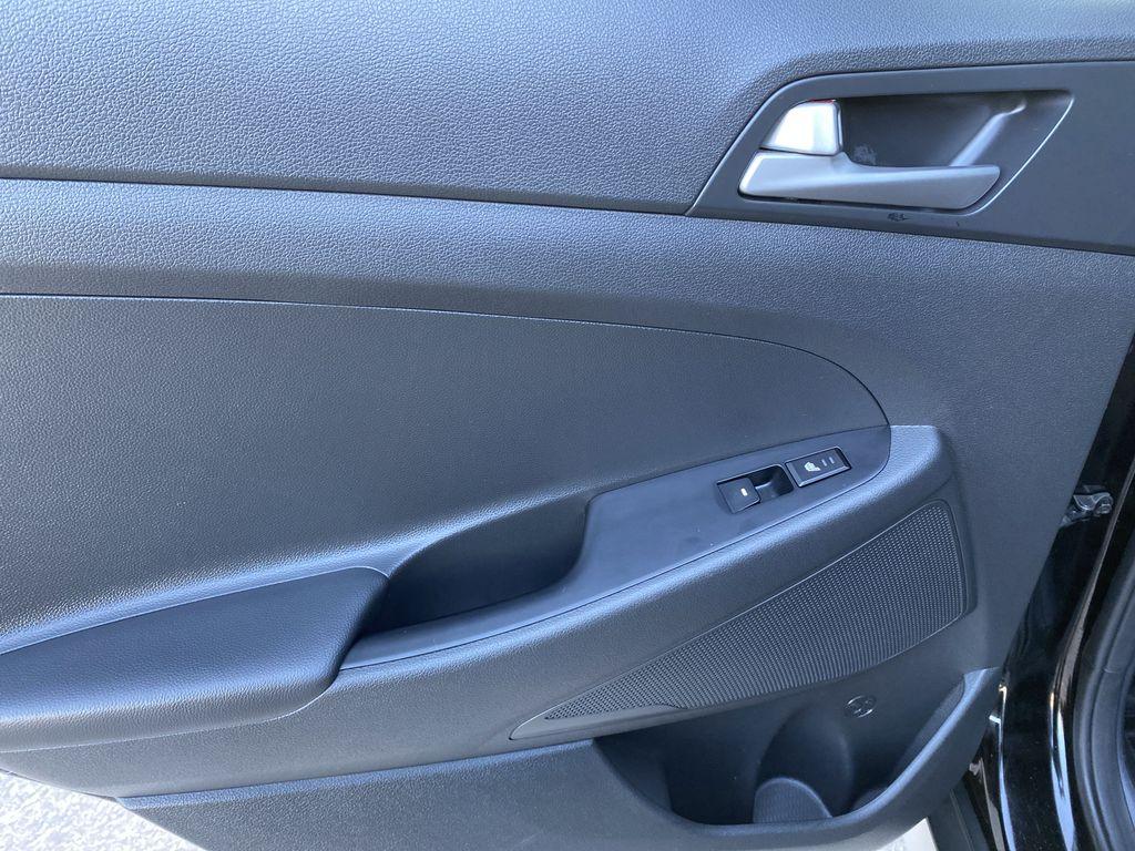 Black[Ash Black] 2018 Hyundai Tucson SE Left Rear Interior Door Panel Photo in Canmore AB