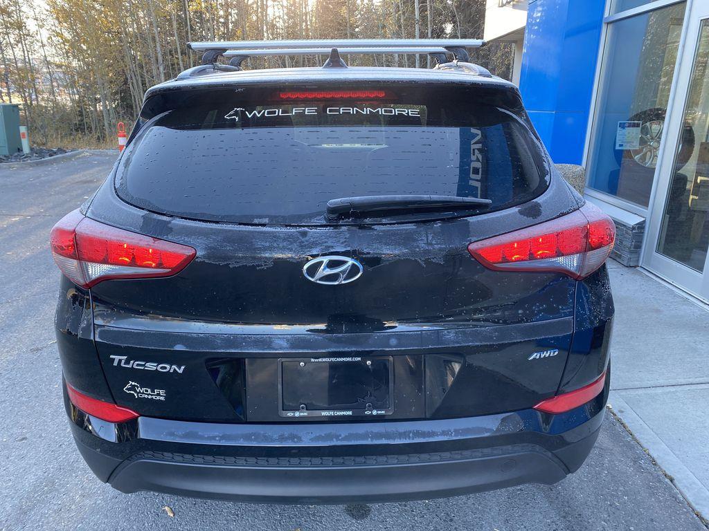 Black[Ash Black] 2018 Hyundai Tucson SE Rear of Vehicle Photo in Canmore AB