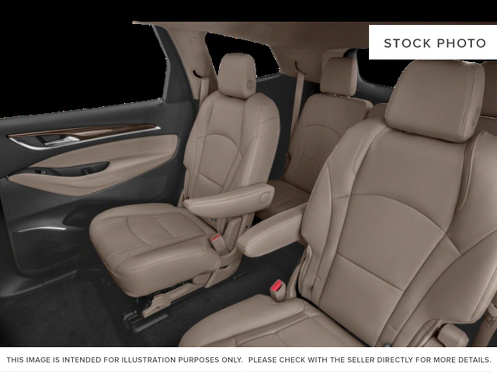 White Frost Tricoat 2021 Buick Enclave Left Side Rear Seat  Photo in Oshawa ON