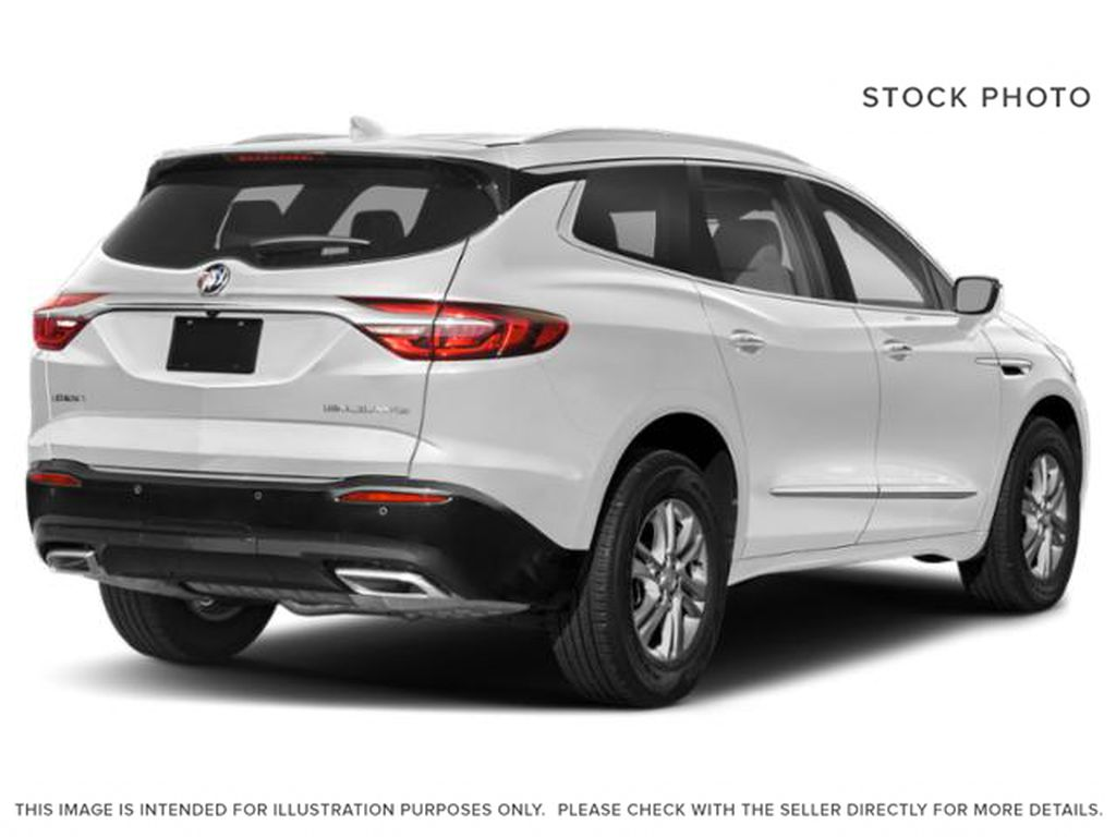 White Frost Tricoat 2021 Buick Enclave Right Rear Corner Photo in Oshawa ON