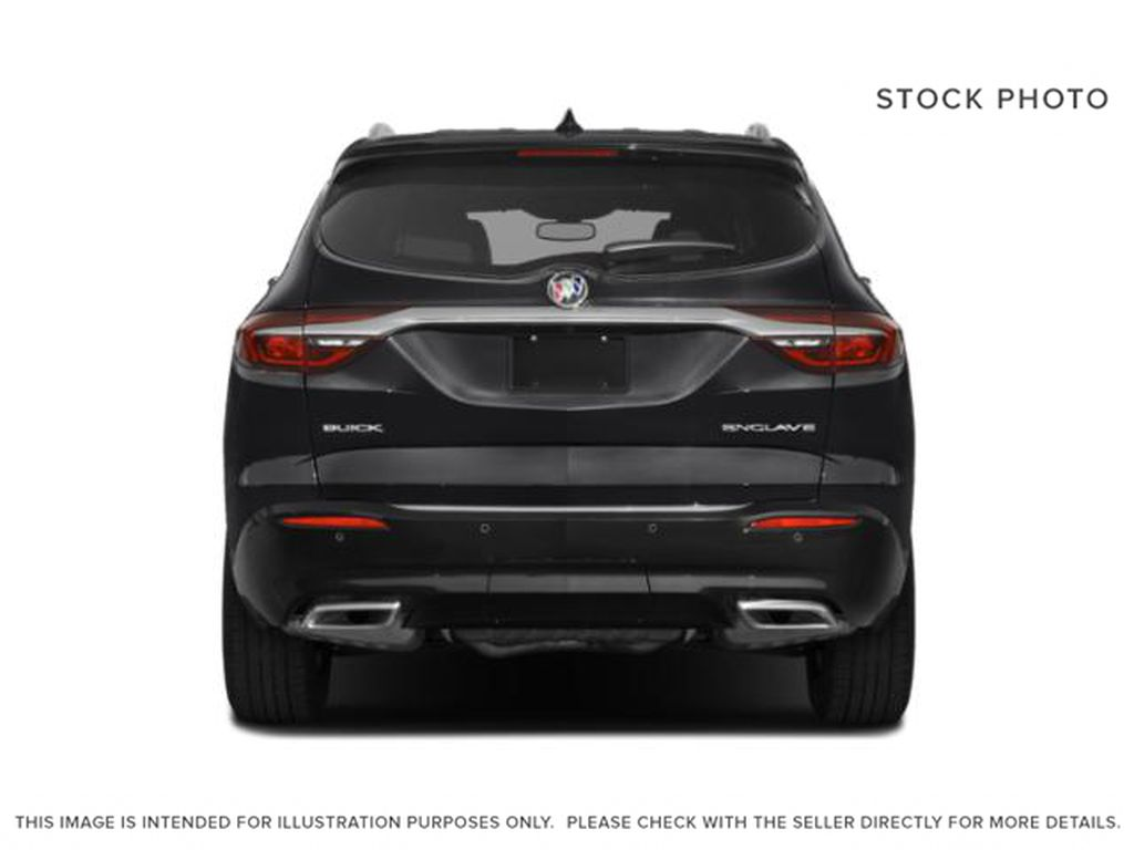 White Frost Tricoat 2021 Buick Enclave Rear of Vehicle Photo in Oshawa ON