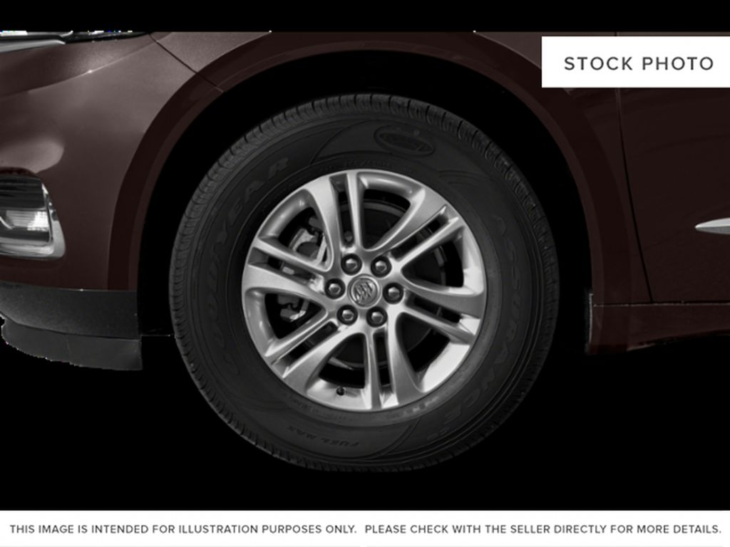 White Frost Tricoat 2021 Buick Enclave Left Front Rim and Tire Photo in Oshawa ON
