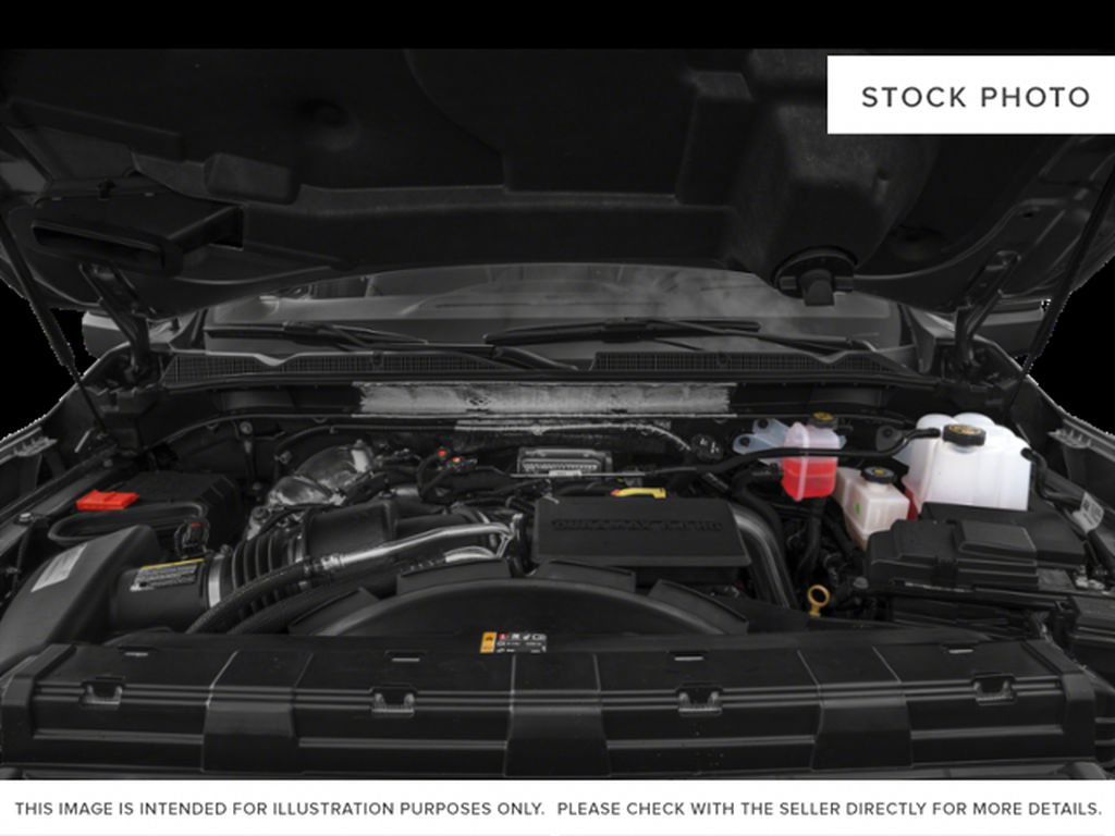 White Frost Tricoat 2022 GMC Sierra 3500HD Diesel Engine Compartment Photo in Oshawa ON