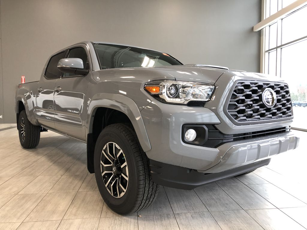 Cement 2021 Toyota Tacoma 4WD Double Cab TRD Sport Left Front Interior Photo in Edmonton AB