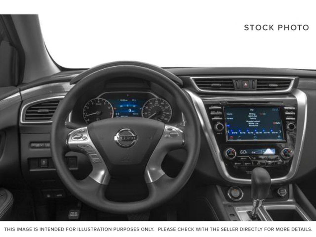White[Pearl White] 2018 Nissan Murano Steering Wheel and Dash Photo in Okotoks AB