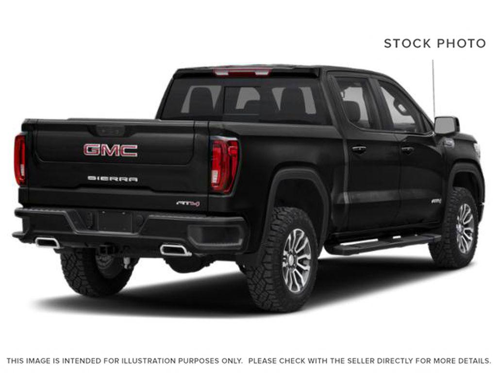 Black[Onyx Black] 2021 GMC Sierra 1500 AT4 Right Rear Corner Photo in Calgary AB