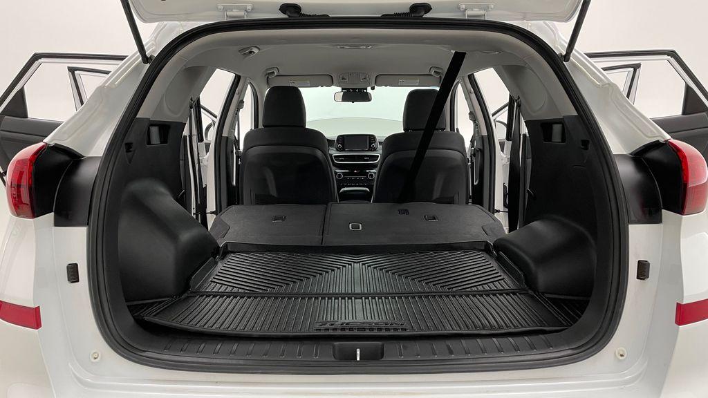 White[Crystal White] 2020 Hyundai Tucson Preferred AWD Rear Seat: Cargo/Storage Photo in Winnipeg MB
