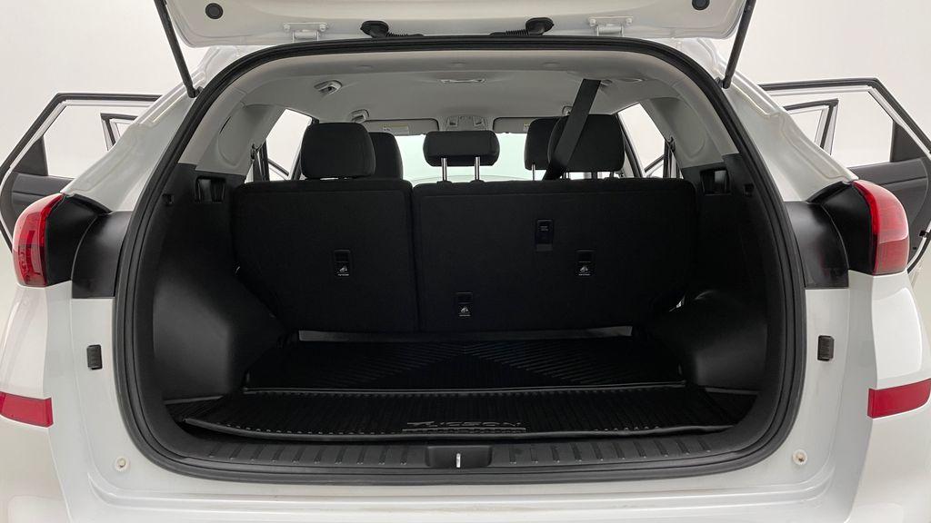 White[Crystal White] 2020 Hyundai Tucson Preferred AWD Trunk / Cargo Area Photo in Winnipeg MB