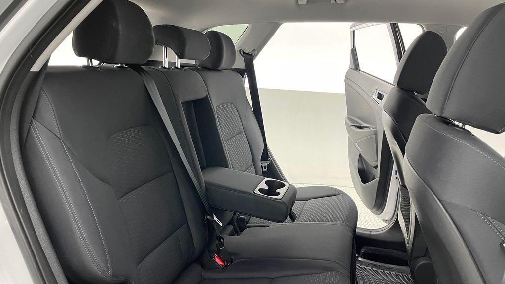 White[Crystal White] 2020 Hyundai Tucson Preferred AWD Right Side Rear Seat  Photo in Winnipeg MB