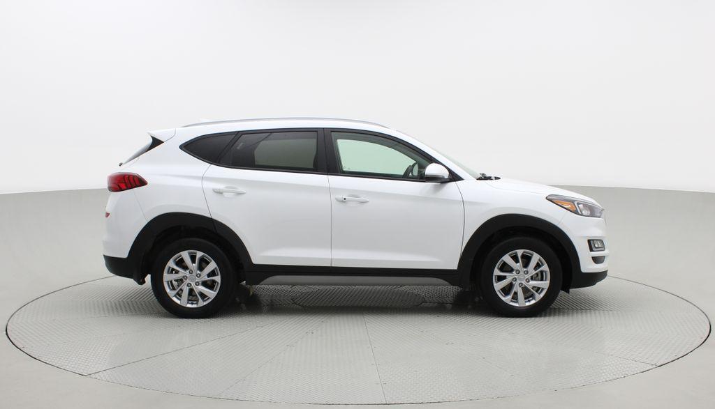 White[Crystal White] 2020 Hyundai Tucson Preferred AWD Right Side Photo in Winnipeg MB