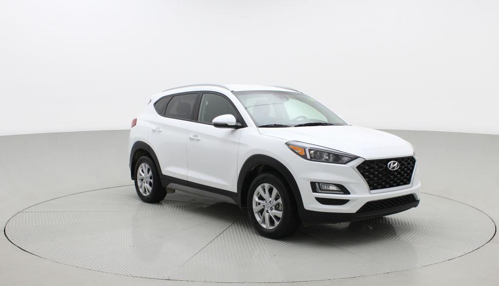 White[Crystal White] 2020 Hyundai Tucson Preferred AWD Left Front Corner Photo in Winnipeg MB