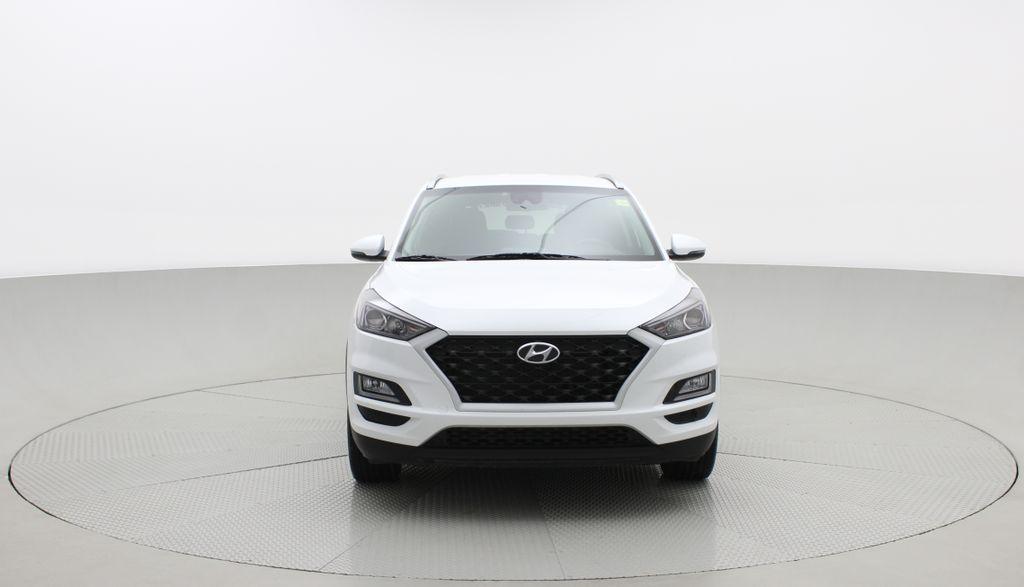 White[Crystal White] 2020 Hyundai Tucson Preferred AWD Front Vehicle Photo in Winnipeg MB