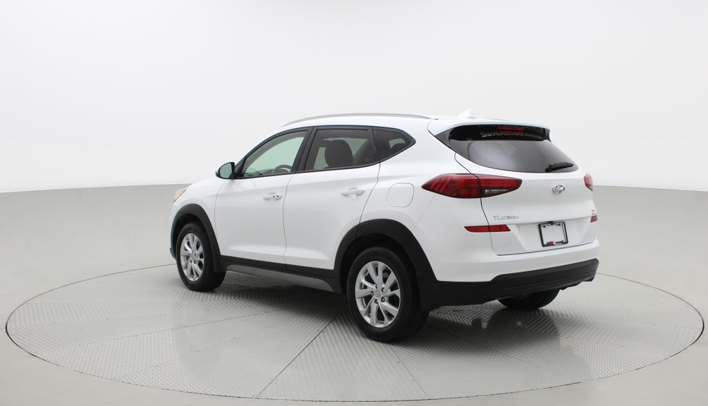 White[Crystal White] 2020 Hyundai Tucson Preferred AWD Right  Rear Corner Photo in Winnipeg MB