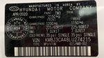White[Crystal White] 2020 Hyundai Tucson Preferred AWD DOT Label Photo in Winnipeg MB