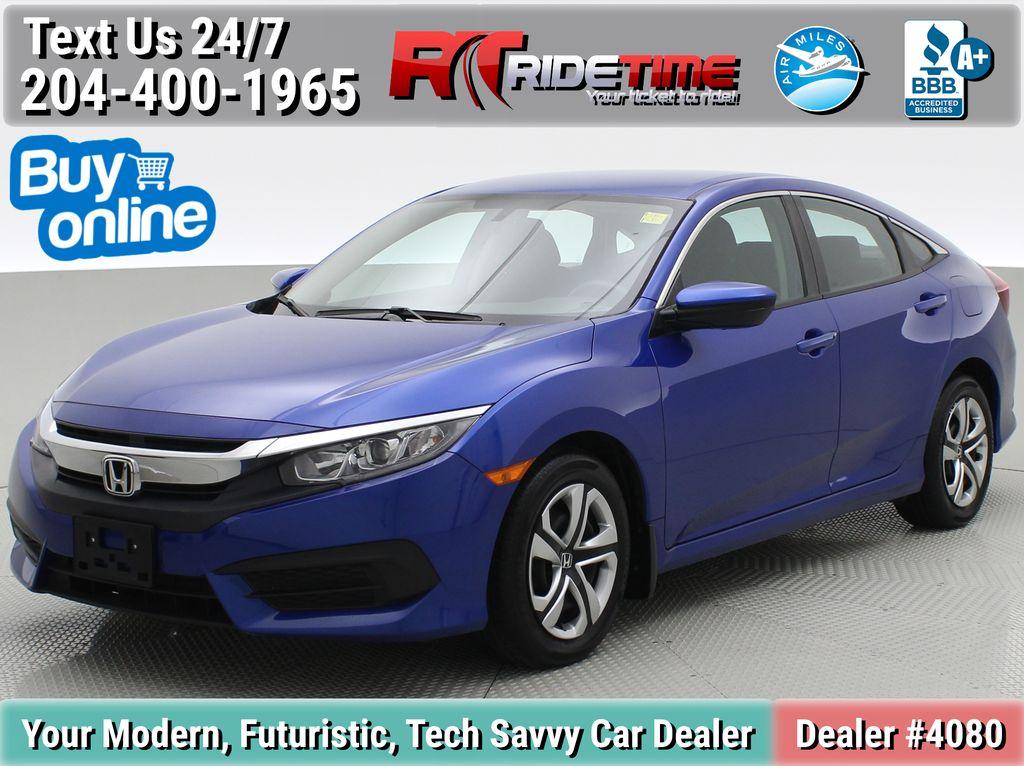 Blue[Aegean Blue Metallic] 2018 Honda Civic LX Sedan - Automatic, Heated Seats, Backup Camera
