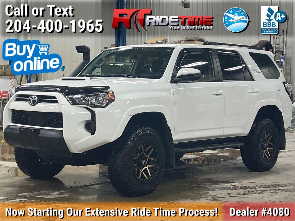 White[Blizzard Pearl] 2020 Toyota 4Runner TRD Off-Road - Custom w/ Snorkel