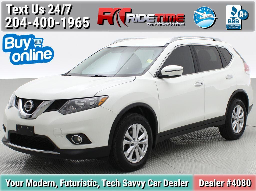 White[Glacier White] 2016 Nissan Rogue SV AWD - Heated Seats, Backup Camera, Bluetooth